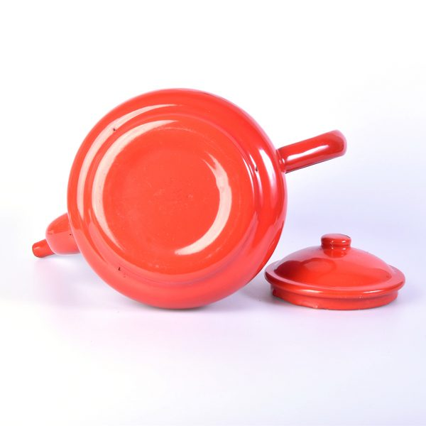 Vintage emaille theepot rood